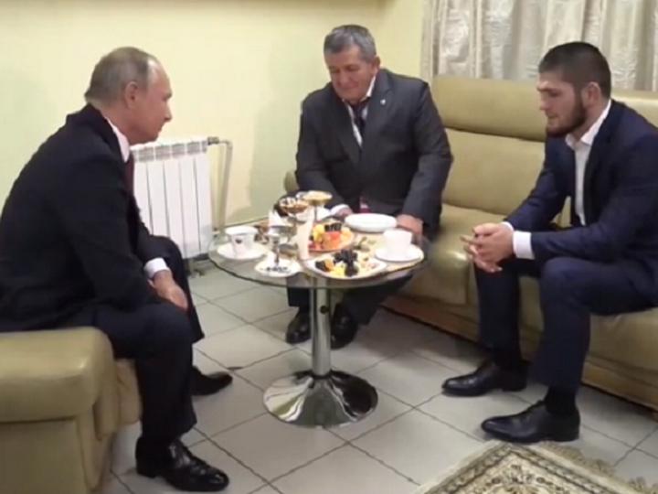 Путин: «Хабиб, мы все можем прыгнуть так, что мало не покажется...» – ВИДЕО
