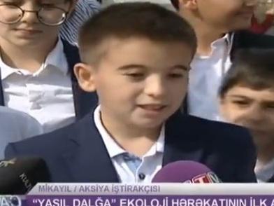 Внук Президента Ильхама Алиева дал интервью: «Нужно охранять животных» - ВИДЕО