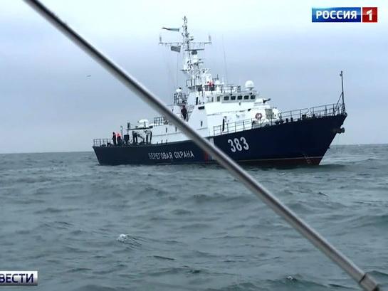 Российские пограничники в Керченском проливе спасли сухогруз с азербайджанцем на борту