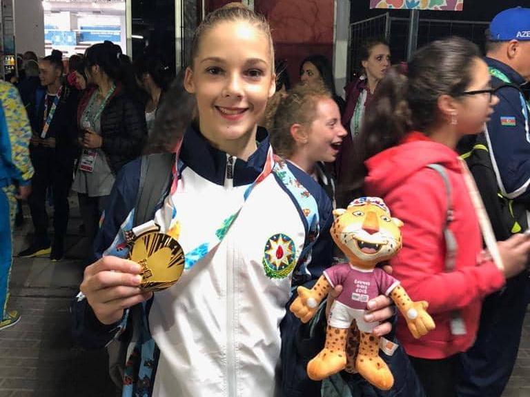 Азербайджанская гимнастка выиграла золото Юношеских Олимпийских Игр