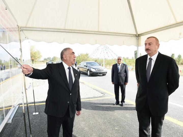 В Губинском районе состоялось открытие дороги - ФОТО