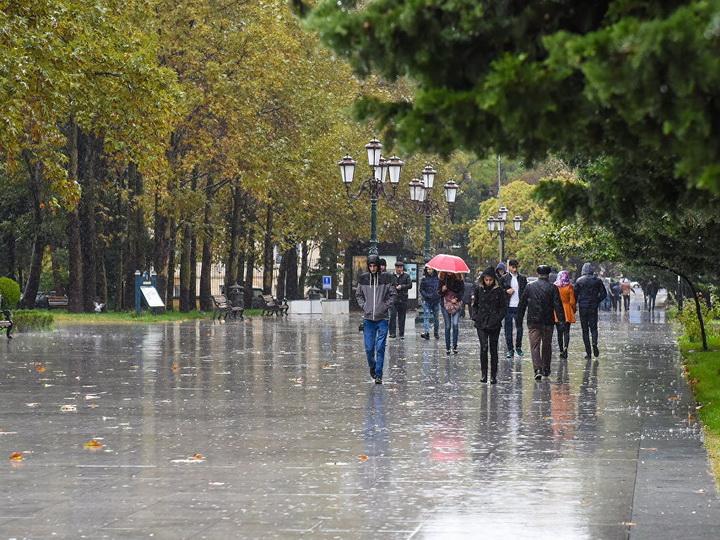 Предупреждение: в Азербайджане ожидаются дождливые выходные