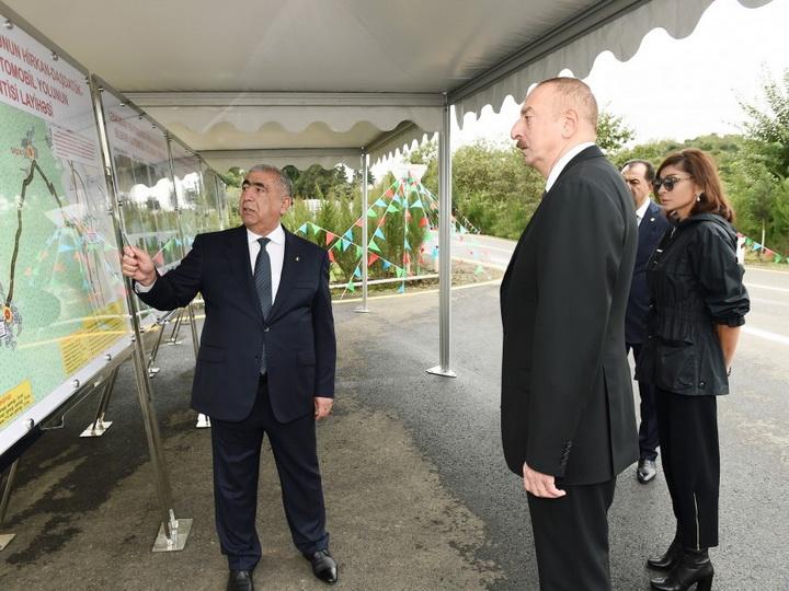 В Лянкяранском районе состоялось открытие автомобильной дороги Гиркан-Дашдатюк-Билясяр после реконструкции - ФОТО