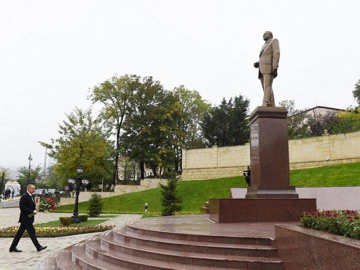 Президент Ильхам Алиев прибыл в Лерикский район - ФОТО