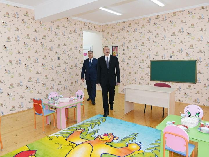 Lerikdə Heydər Əliyev Fondunun təşəbbüsü ilə inşa edilən 100 yerlik körpələr evi-uşaq bağçası açılıb - FOTO