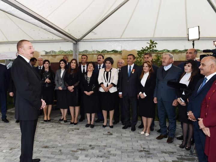 Президент Азербайджана принял участие в церемонии завершения реализации проектав Лерике - ФОТО