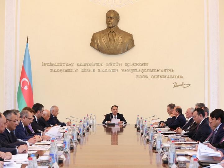 Под председательством премьер-министра Новруза Мамедова состоялось заседание Кабинета Министров - ФОТО