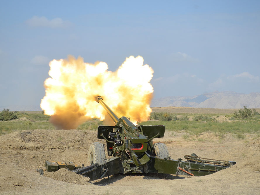Ракетные и артиллерийские подразделения ВС Азербайджана провели боевые стрельбы - ФОТО - ВИДЕО