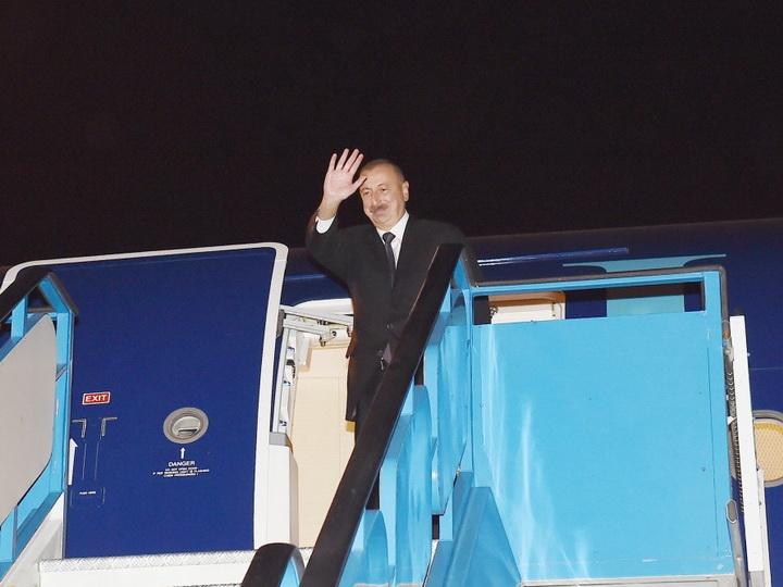 Завершился визит Президента Азербайджана в Турцию - ФОТО