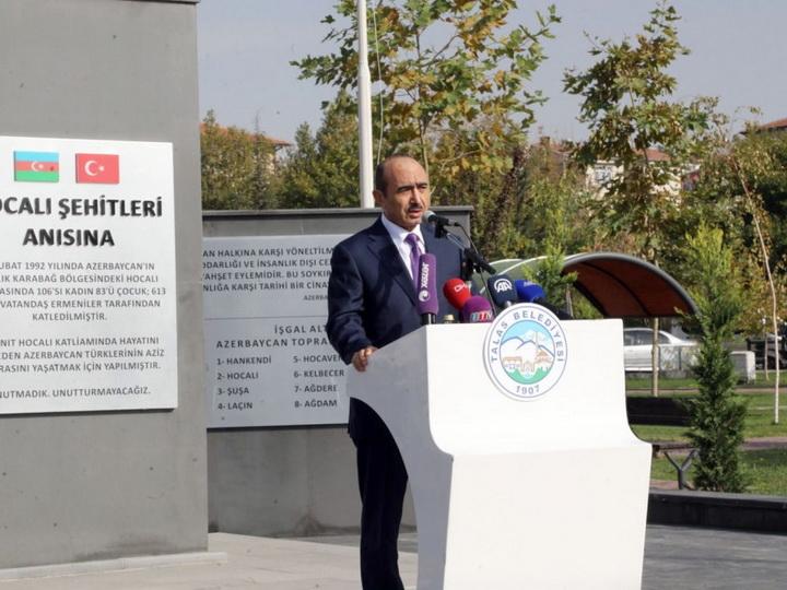 В турецком городе Кайсери состоялось открытие Парка Ходжалы и памятника ходжалинским шехидам - ФОТО