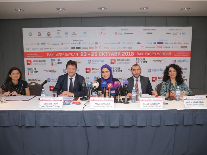 Состоялась пресс-конференция, посвященная открытию выставок BakuBuild Azerbaijan и Aquatherm Baku