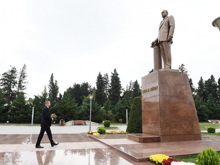Президент Ильхам Алиев прибыл в Имишлинский район - ФОТО