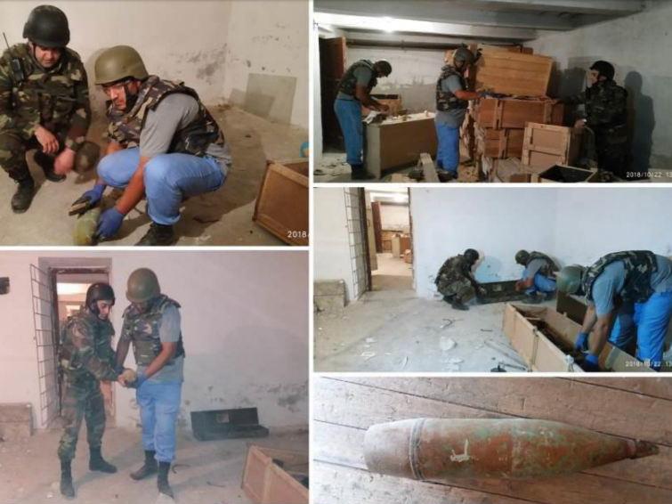 В подвале бакинской школы обнаружен арсенал боеприпасов – ФОТО