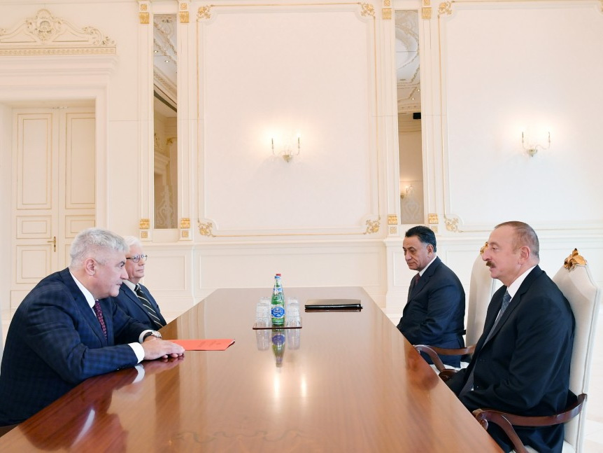 Президент Ильхам Алиев принял делегацию во главе с министром внутренних дел России