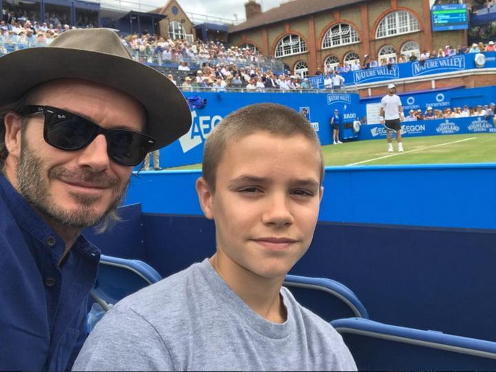 Дэвид Бекхэм подарил своему сыну теннисный корт - ФОТО