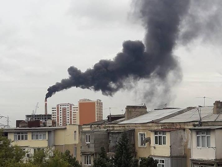 Виновный в загрязнении атмосферы Баку наказан – ФОТО – ОБНОВЛЕНО
