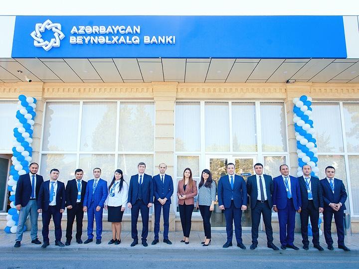 Azərbaycan Beynəlxalq Bankının Ucar şöbəsinin yeni binasının açılışı olub – FOTO