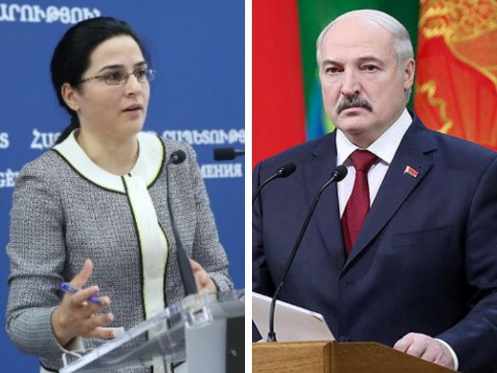 """Yerevan Lukaşenkonu """"yanlışlıqda"""" ittiham edib"""
