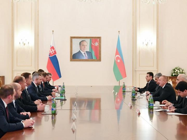 Состоялась встреча Президента Азербайджана и премьер-министра Словакии в расширенном составе - ФОТО