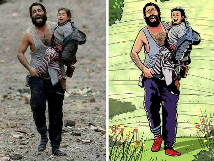 Мир без насилия: художник из Бангладеш превращает душераздирающие фотографии в счастливые – ФОТО