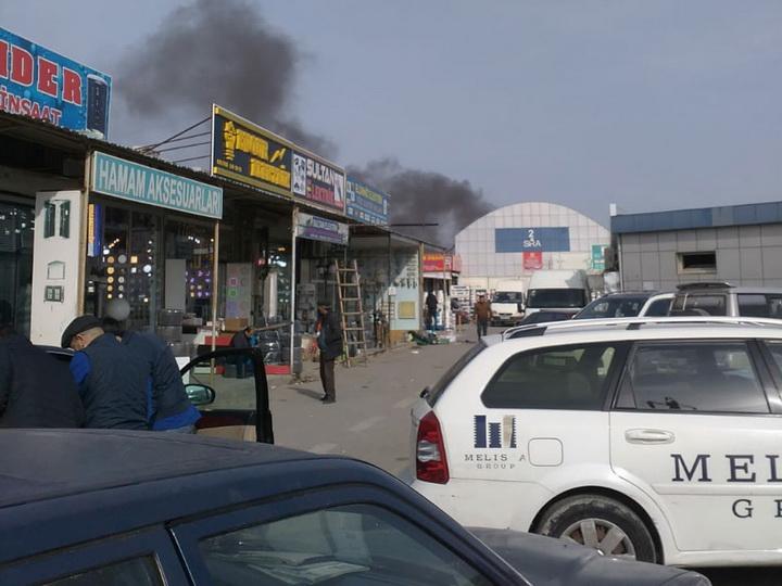Пожар в торговом центре «Садарак» потушен - ОБНОВЛЕНО