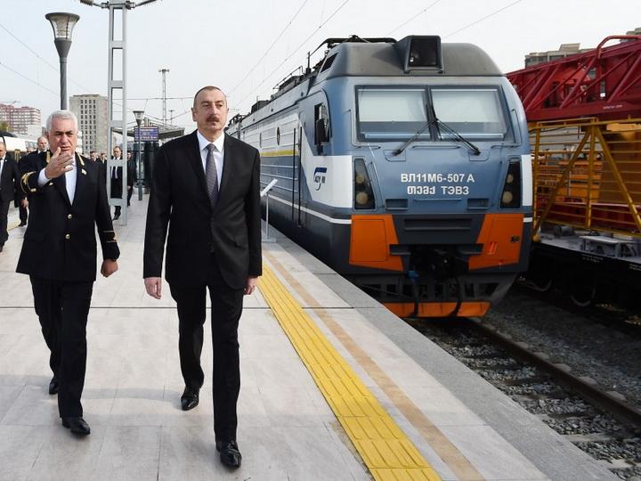 Президент Азербайджана принял участие в открытии Комплекса железнодорожного вокзала - ФОТО
