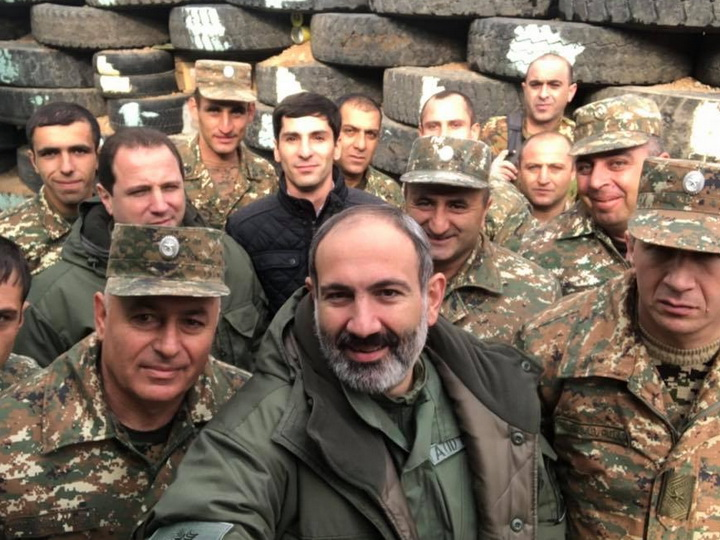 Пашинян на границе с Азербайджаном