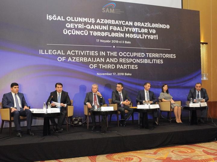 Азербайджан призвал международное сообщество предпринятьсерьезные шаги по предотвращению незаконной деятельности на оккупированных территориях