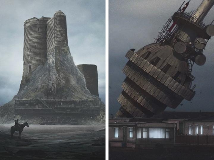 Достопримечательности Азербайджана одиноко возвышаются в постапокалиптическом мире – ФОТО
