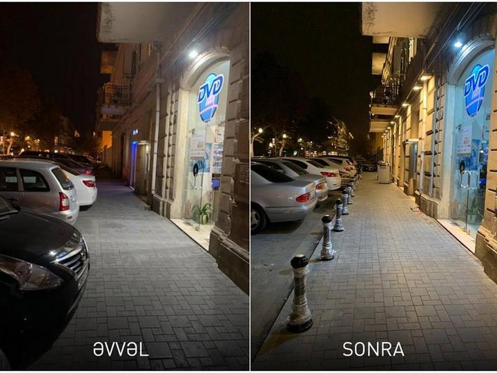 Тротуары Баку освобождаются от припаркованных на них автомобилей – ФОТО