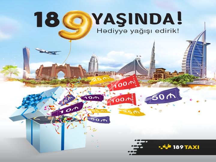 189 TAXI-dən Yeni İldə Dubaya pulsuz səyahət qazan