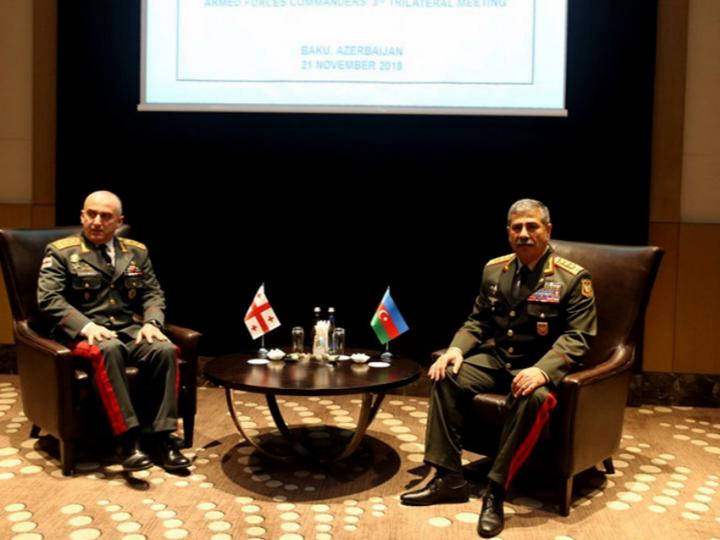 Состоялась встреча министра обороны Азербайджана и начальника Генштаба ВС Грузии