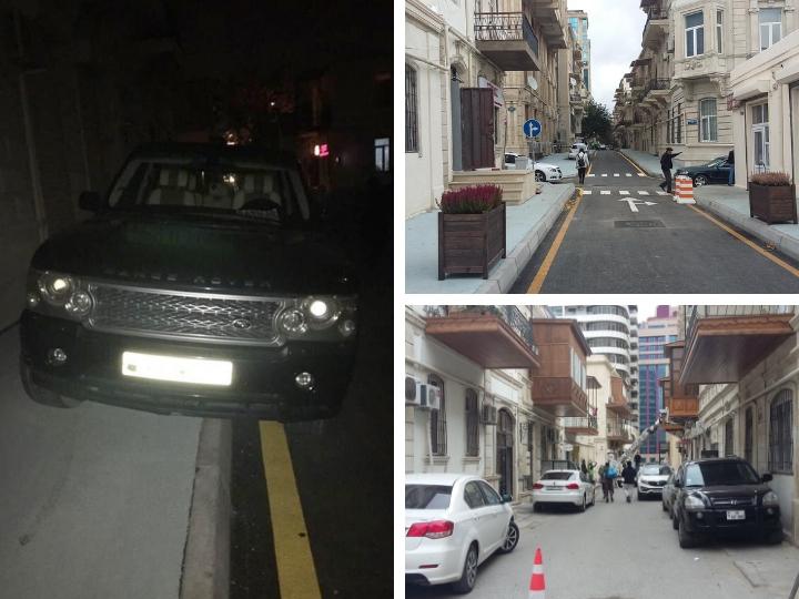 Внедорожники оккупируют и пятиметровые бакинские тротуары: Как спасти пешеходов в центре столицы? - ФОТО