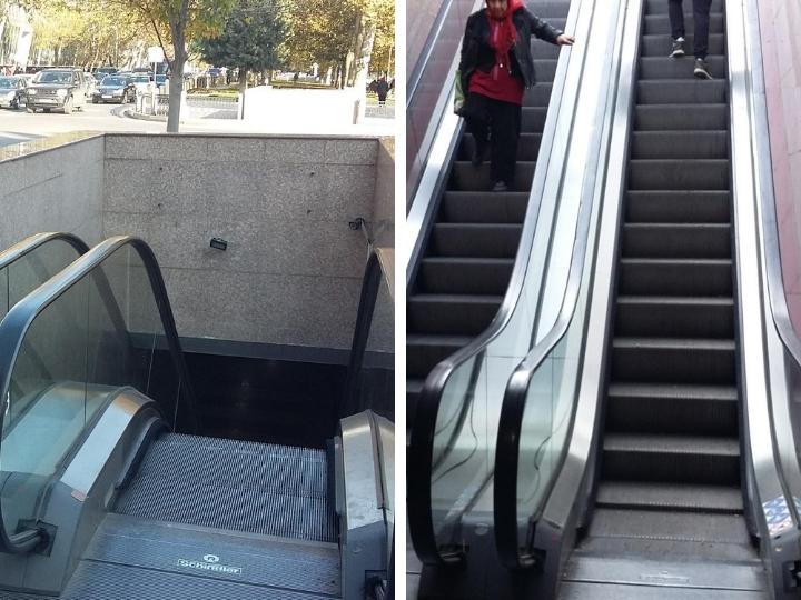 Когда заработают неработающие эскалаторы переходов в центре Баку? – ПОДРОБНОСТИ – ФОТО
