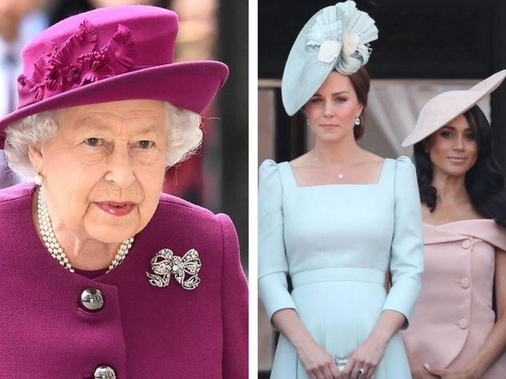 Королева Елизавета II вмешалась в скандальный конфликт между Меган Маркл и Кейт Миддлтон – ФОТО