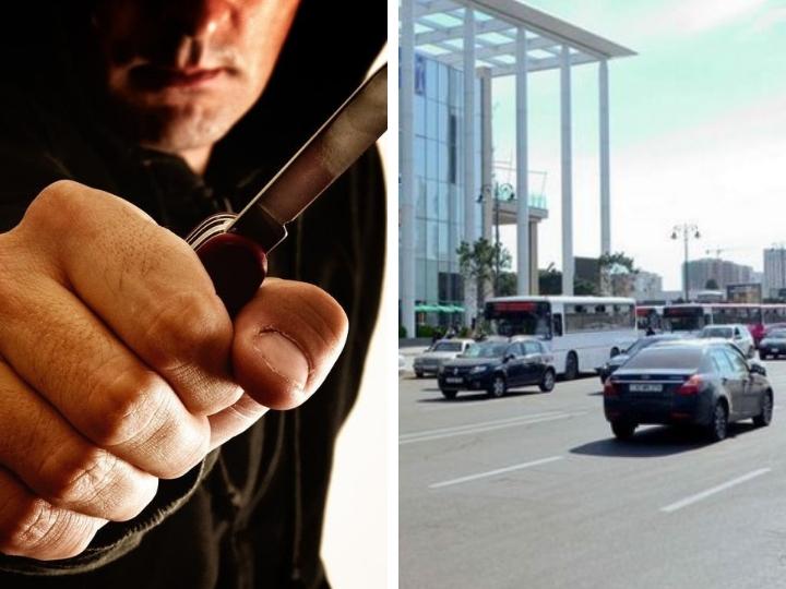 МВД АР: В Баку задержан мужчина, угрожавший ножом перед станцией метро «Гянджлик»