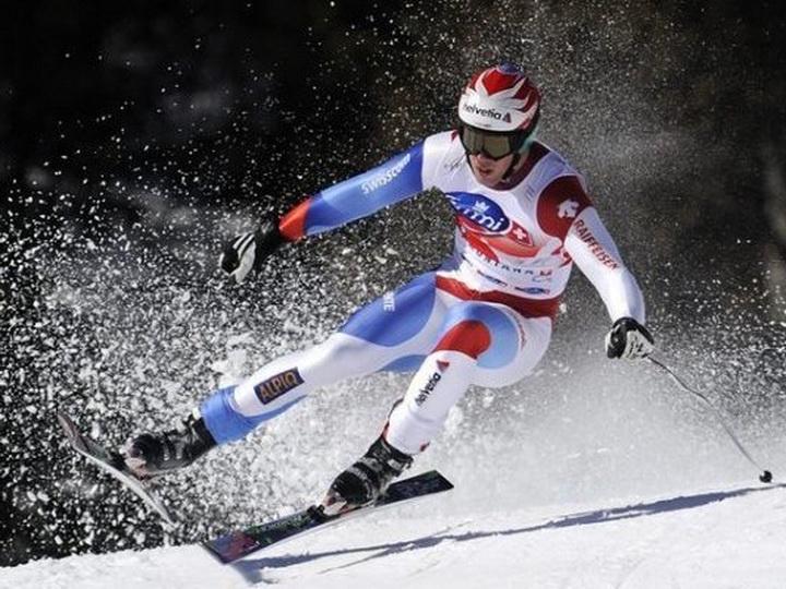 Падение горнолыжника наполной скорости попало навидео