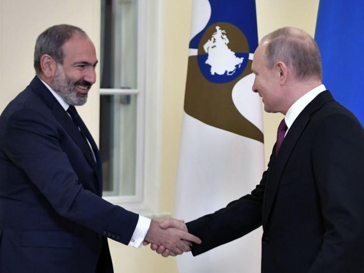 Кремль озвучил повестку переговоров В.Путина иПашиняна
