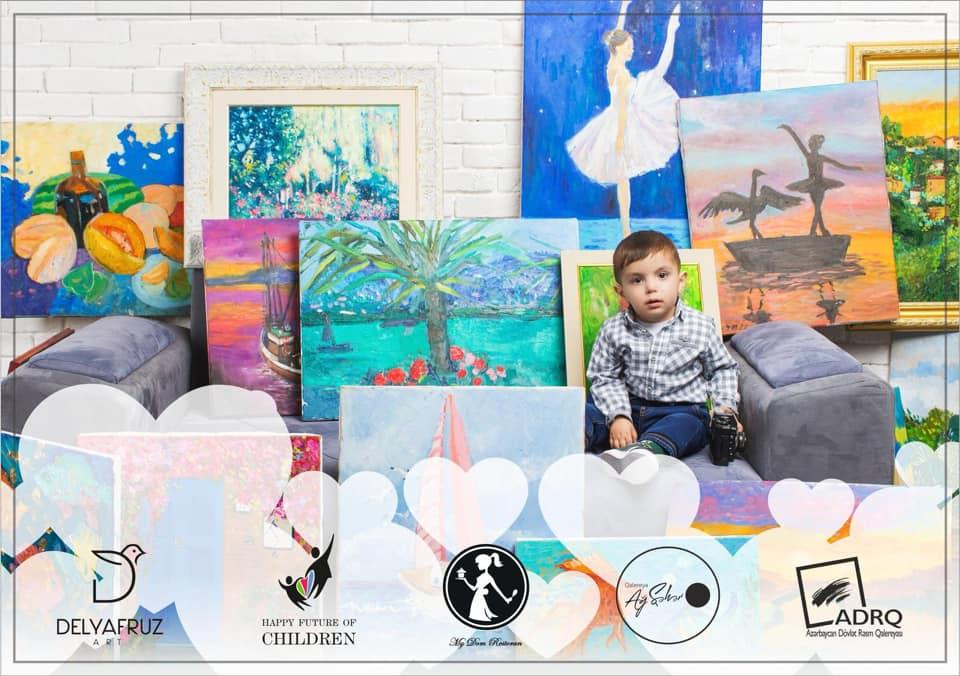 Дети рисуют, чтобы спасти двухлетнего Хикмета Мирзазаде - ФОТО