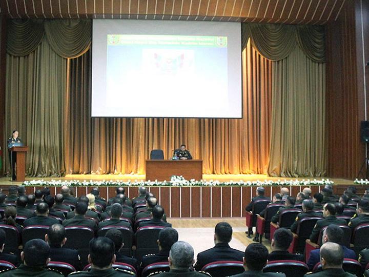 Проведены учебно-методические сборы с сотрудниками кадровых органов азербайджанской армии – ФОТО