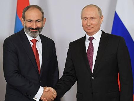 Putin Paşinyanı təbrik edib