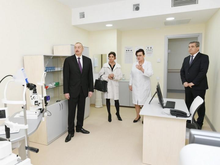 Президент Ильхам Алиев принял участие в открытии новой больницы в Гарадагском районе - ФОТО