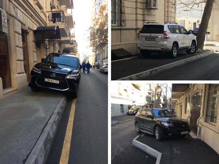 Безобразие как стиль жизни: Бакинские тротуары облюбованы водителями как место для парковки – ФОТОФАКТЫ