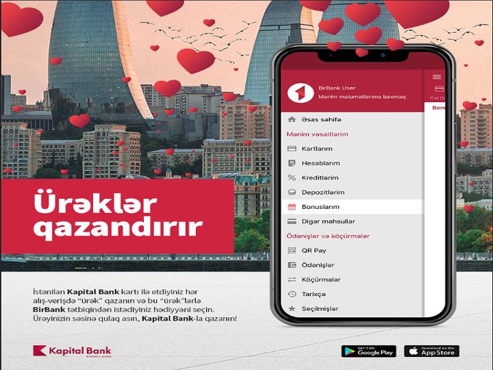 """Kapital Bank-la """"ürəklər"""" toplayıb, hədiyyə qazanın"""