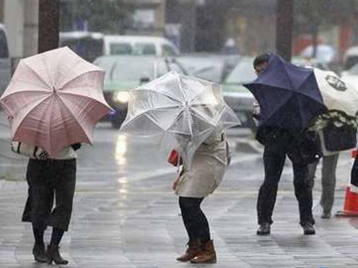 В субботу на Абшероне ветрено и дождливо