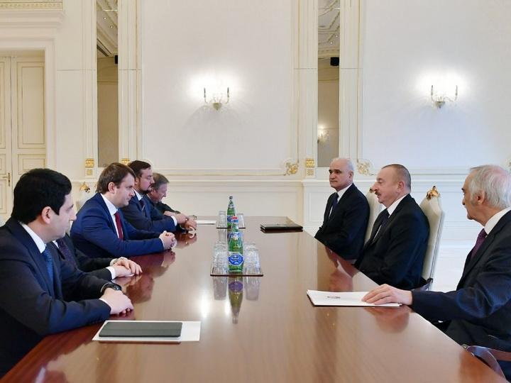 Президент Ильхам Алиев принял делегацию во главе с министром экономического развития России - ОБНОВЛЕНО