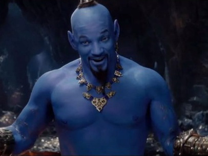 Уилл Смит в образе синекожего Джинна в трейлере фильма «Аладдин» - ВИДЕО