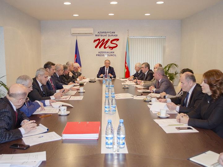 Состоялось заседание правления Совета по прессе Азербайджана - ФОТО