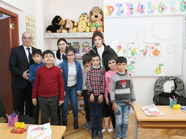 Первый вице-президент Азербайджана посетила столичную спецшколу номер 268 - ФОТО