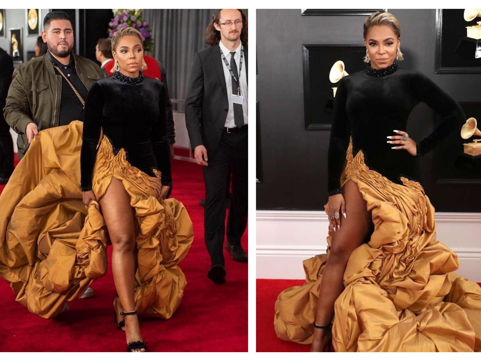 Певица Ашанти появилась на красной дорожке «Grammy 2019» в платье от азербайджанского дизайнера - ФОТО – ВИДЕО